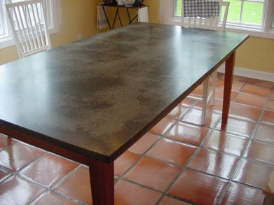 galvanized table top
