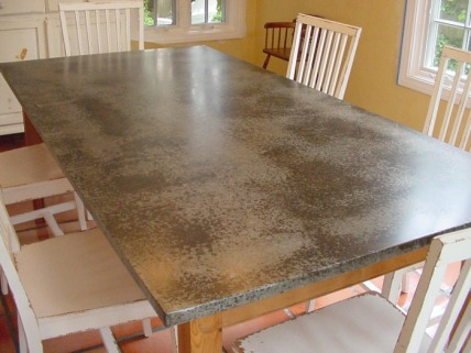 Exceptional We Form A Sheet Of Zinc,copper Or Zinc Veneered Steel To Fit Your Table Top.