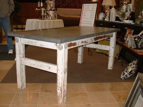 Metal Table Top Gallery Metaltoppedtables Com