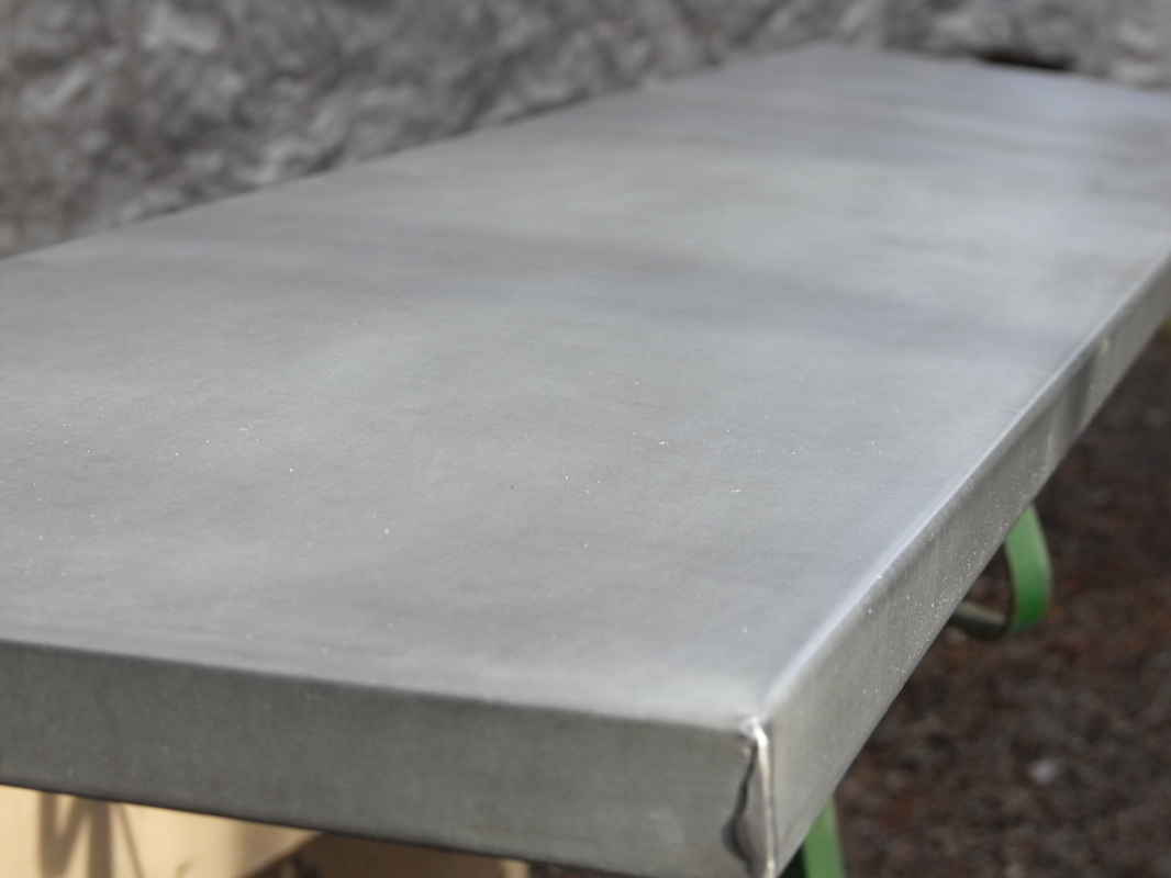 Aged Galvanized Table Top Metaltoppedtables Com